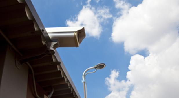 Security Cameras at Storage Facility