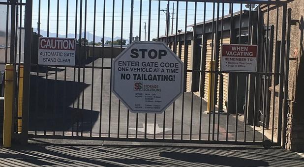 Gate & Signage Of Storage Facility