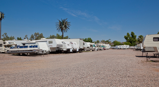 Cars, Boats And RVs Parked At Bar 4 Storage Solutions