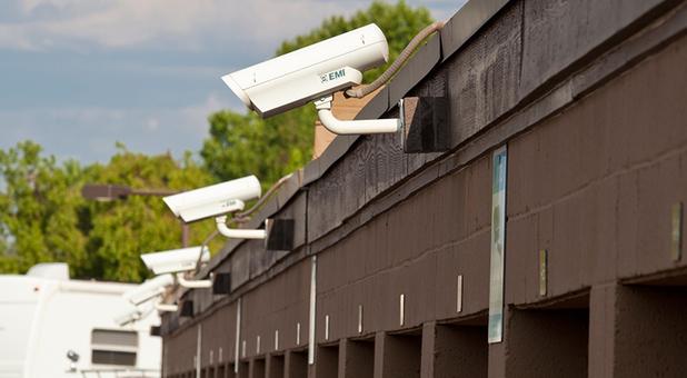 Security Camera On A Self Storage Unit
