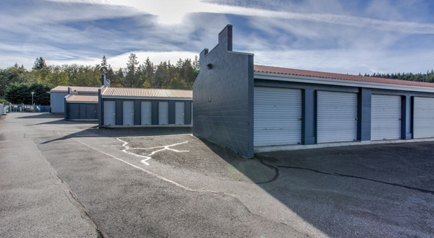 drive up next to your rented storage unit