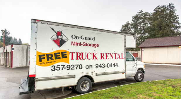 Use our moving truck for free with a unit rental