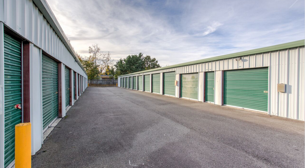 pull up next to your storage unit with drive up access Near 98223