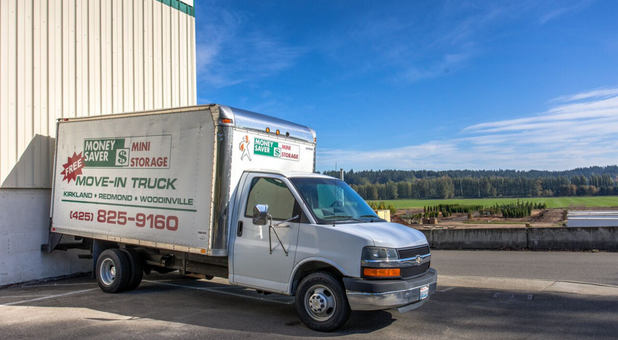 rent a truck with us today for self storage in Kirkland, WA