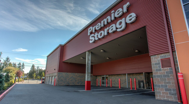 Premier Storage Everett covered loading area