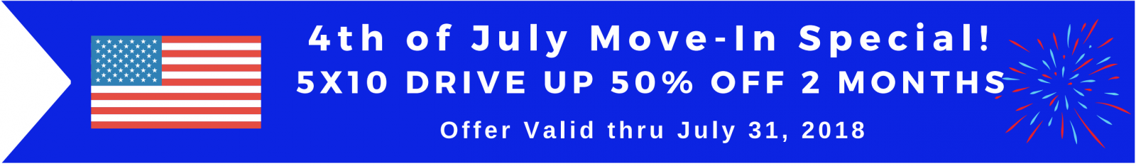 5x10 Drive up Units 50% off for 2 months