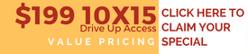 Click on Banner for Value Pricing $199 on 10x15 Drive Up Access