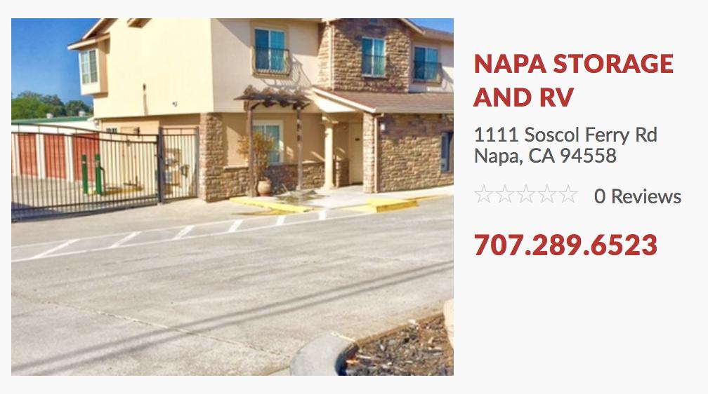 Napa Storage & RV Open For California Fire Victims
