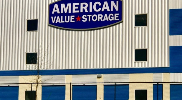 Outdoor Image Of American Value Storage Logo