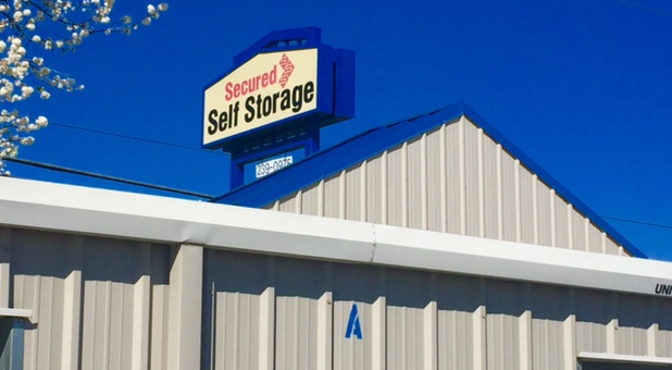 Secured Self Storage Manteca, CA- Sign