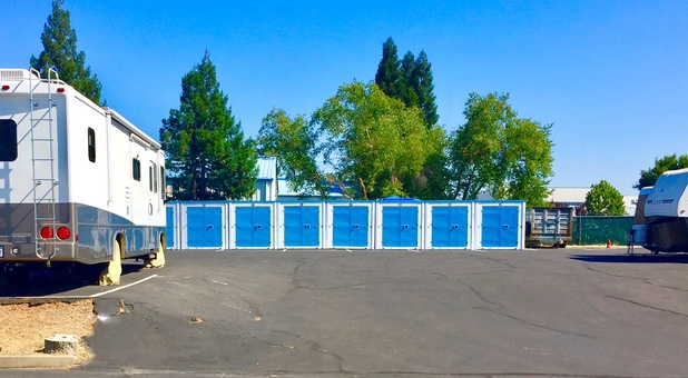 Drive-Up Affordable Self Storage Units