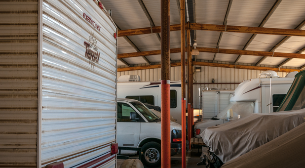 covered storage RVs