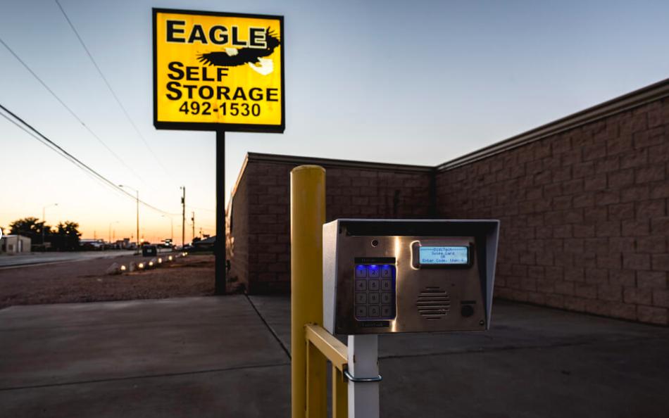 Eagle Self Storage Signage and Keypad