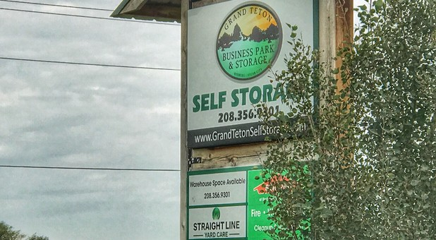 Sign Grand Teton Self Storage