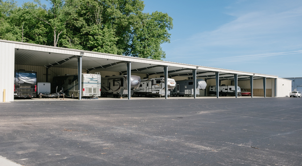 Covered RV, Boat, Vehicle, and Trailer Parking in Elkhart, IN