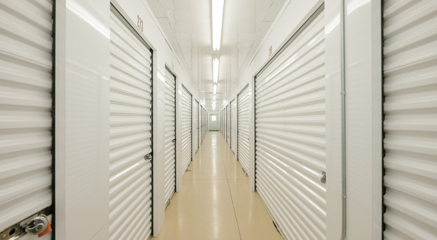 Well Lit and Wide Hallways in our Climate Controlled Storage Facility