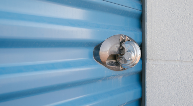 Pad Lock Secured Storage Units