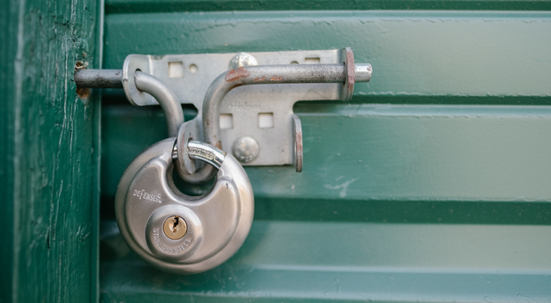Storage Units are Individually Secured by Padlocks