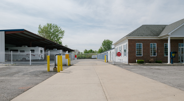 Marion, IN Storage Facility Securely Fenced and Gated with Keypad Controlled Access