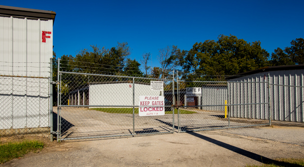 E Carolina Ave Storage Property is Fenced and Gated