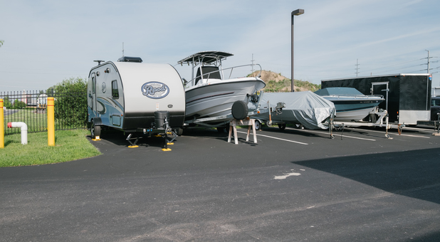 Uncovered RV, Boat, and Vehicle Surface Parking in Fort Wayne, IN