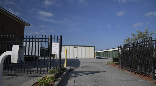 Fenced and Gated Facility with Keypad Controlled Access