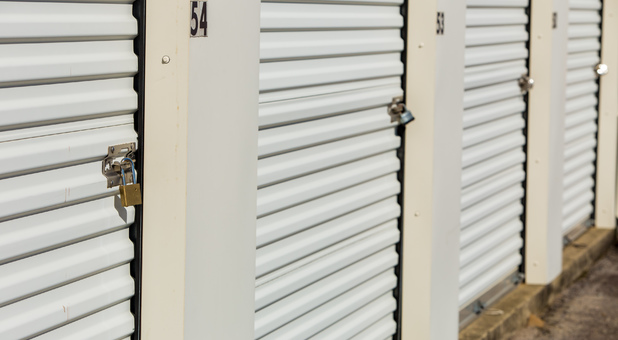 Storage Units Individually Secured With Pad Locks