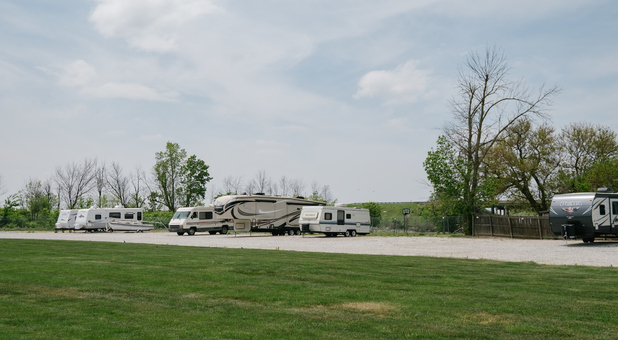 Uncovered RV, Boat, and Vehicle Surface Parking in Muncie, IN