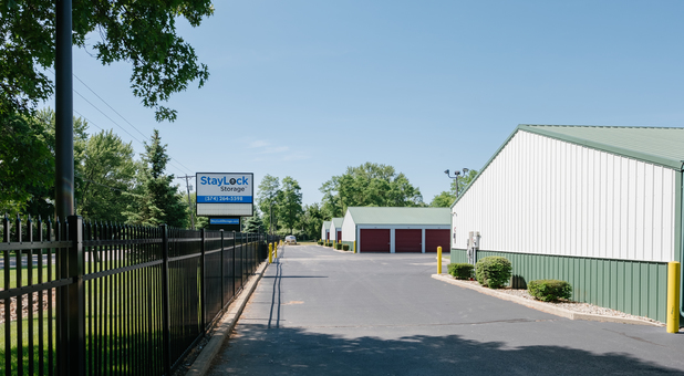 Johnson Street Storage Property is Securely Fenced and Gated with Keypad Controlled Access