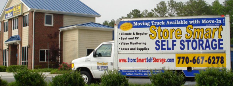 Store Smart Self Storage Woodstock Main Office and Truck