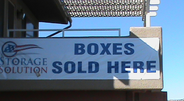 Boxes and other supplies are sold here.