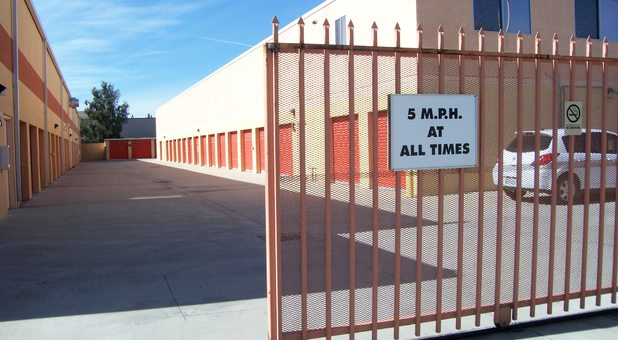 Secure and professional self storage facility.
