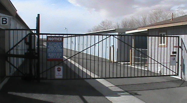 Secured and gated self storage facility