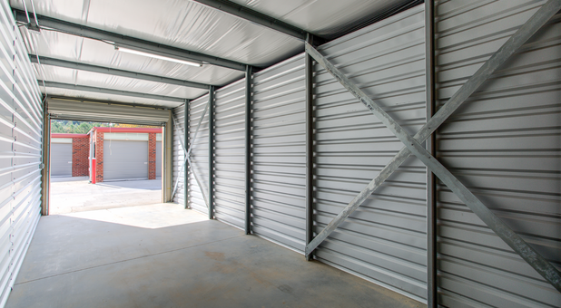 Drive up storage unit interior