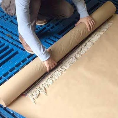 Storing rugs