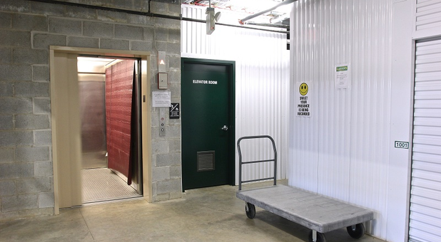 U-Stor-It Self Storage Streamwood, IL Elevator Access and Loading Carts