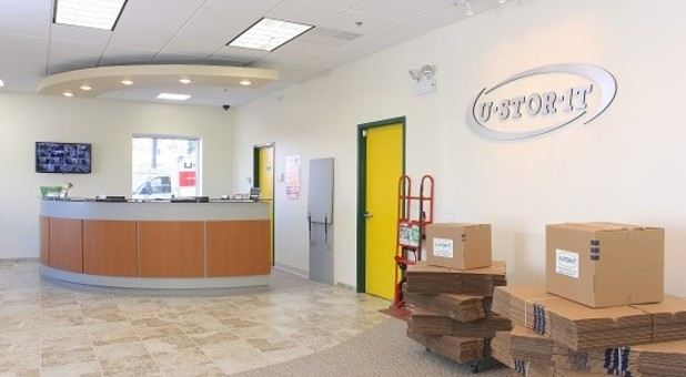 U-Stor-It Self Storage Manager Office with Packing and Moving Supplies