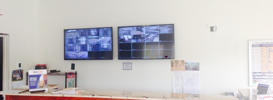 Security Camera Monitors in Office