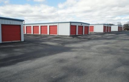 Weir Country Storage orange door units.