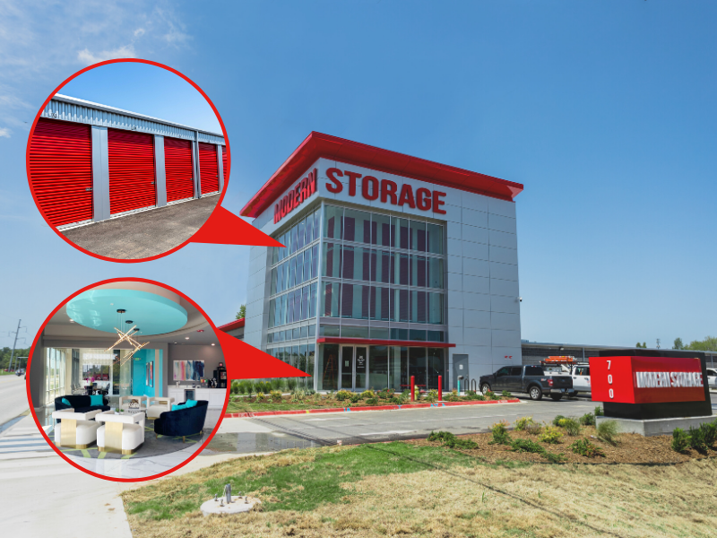 Photo of Modern Storage in Bentonville from facility entrance. Prepare to see what sets us apart from the competition in Bentonville!