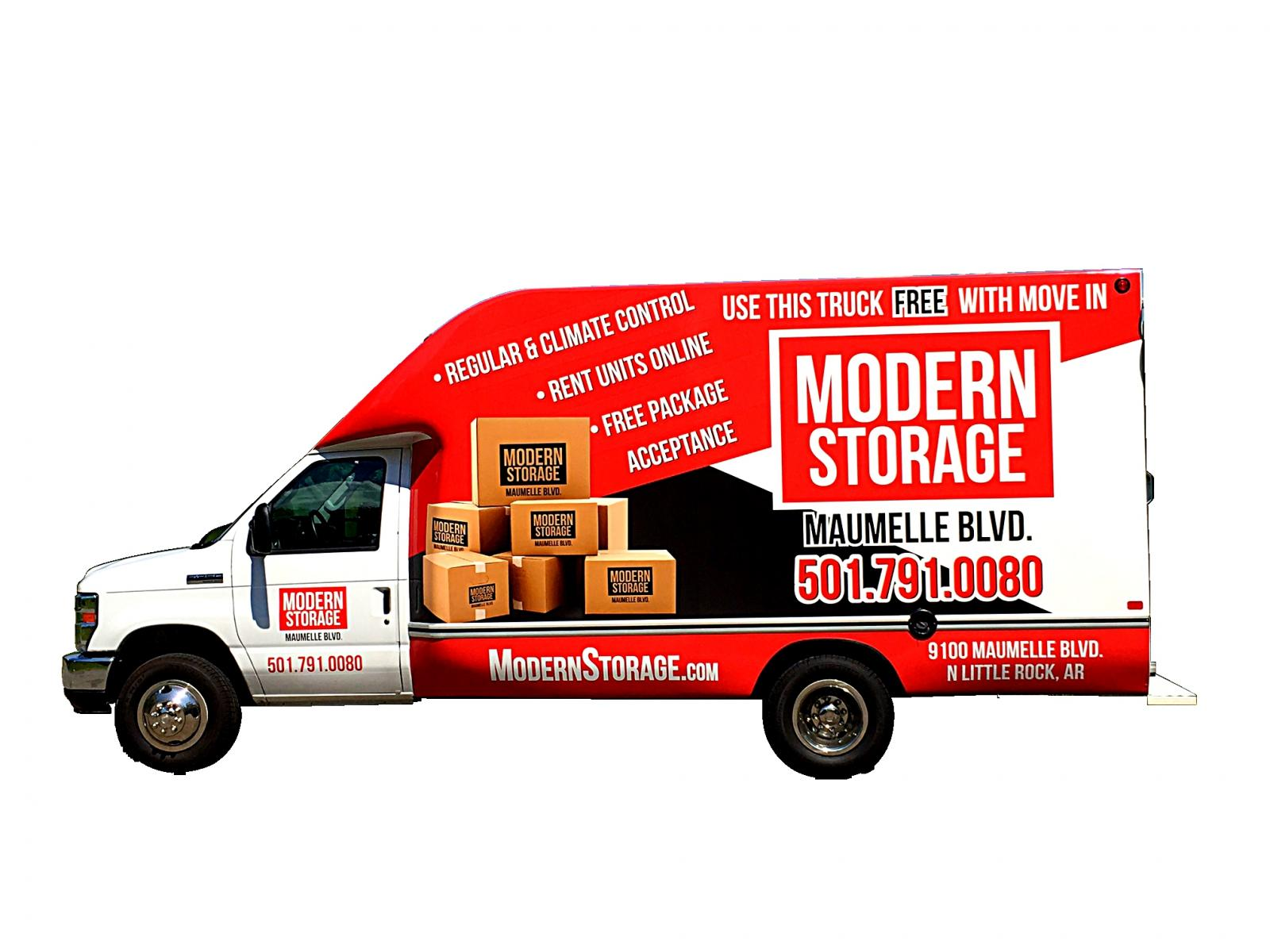free moving truck with new storage unit reservation