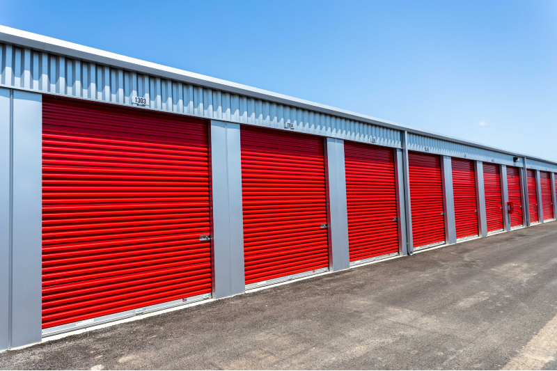 Photo of Bentonville storage units. Learn more about our storage unit prices here at Modern Storage Bentonville!