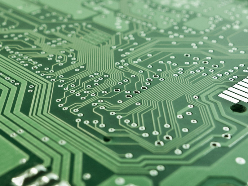 Photo of a circuit board. Read this blog post for tips on storing electronics from the team of experts at Modern Storage.