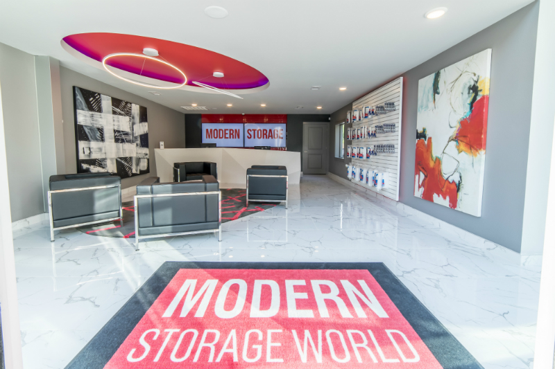 inside Modern Storage World in Little Rock
