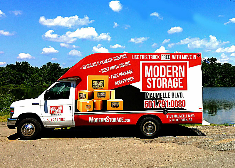 self storage in Little Rock with free truck to rent