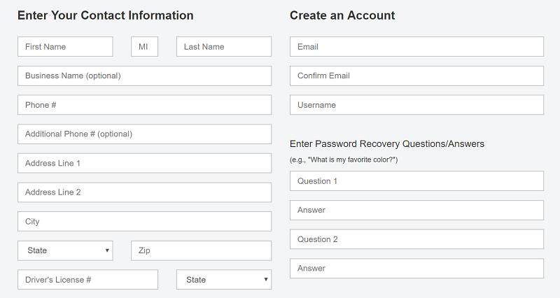 Moving in Online, Step 4: Enter Your Information