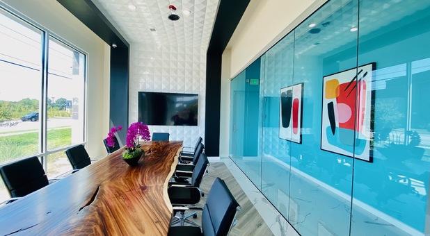 Modern Storage Conference Room