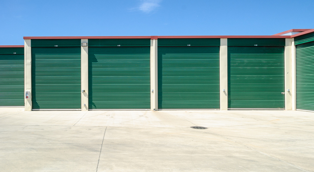 Spacious self storage facility