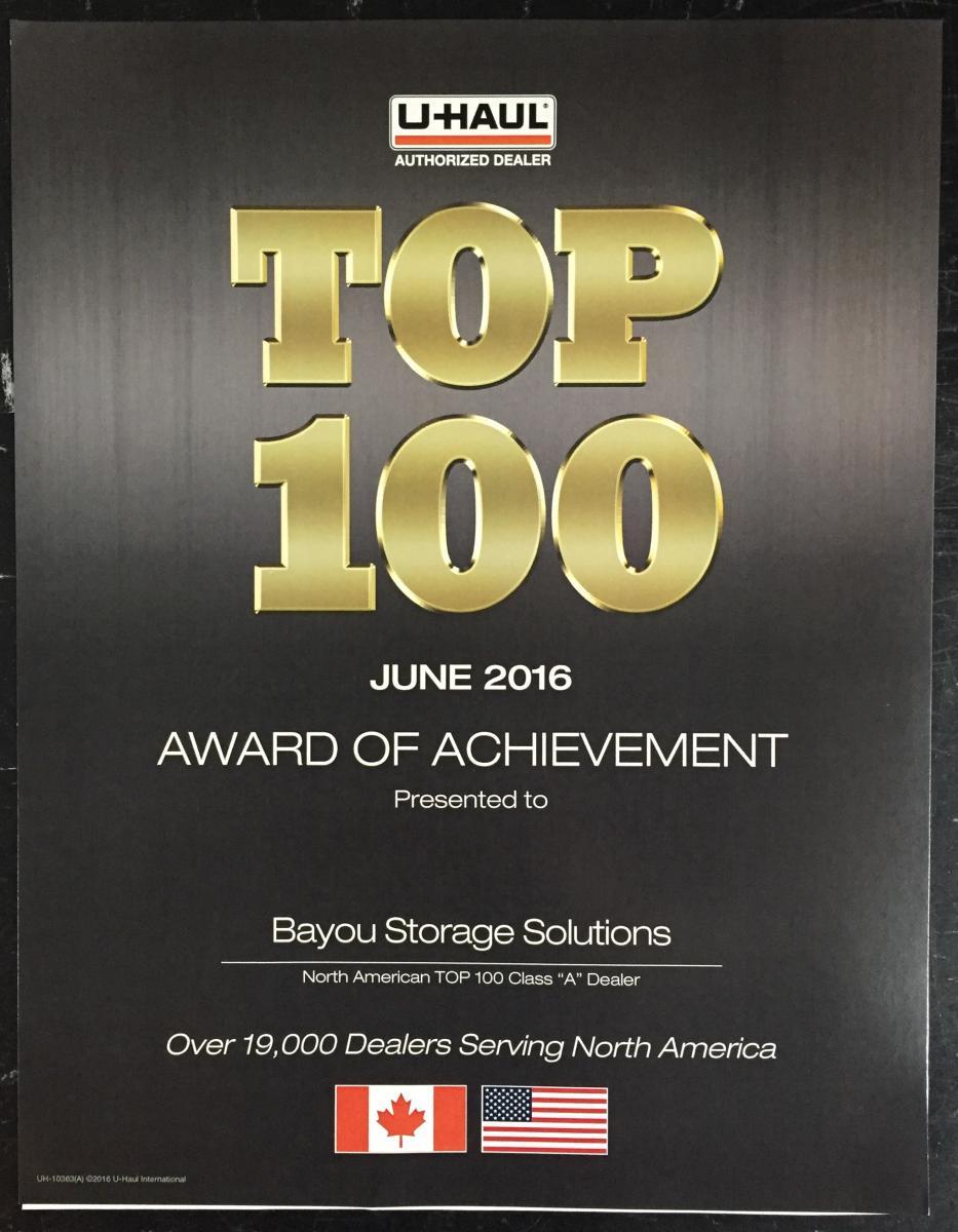 UHaul Top 100 2015